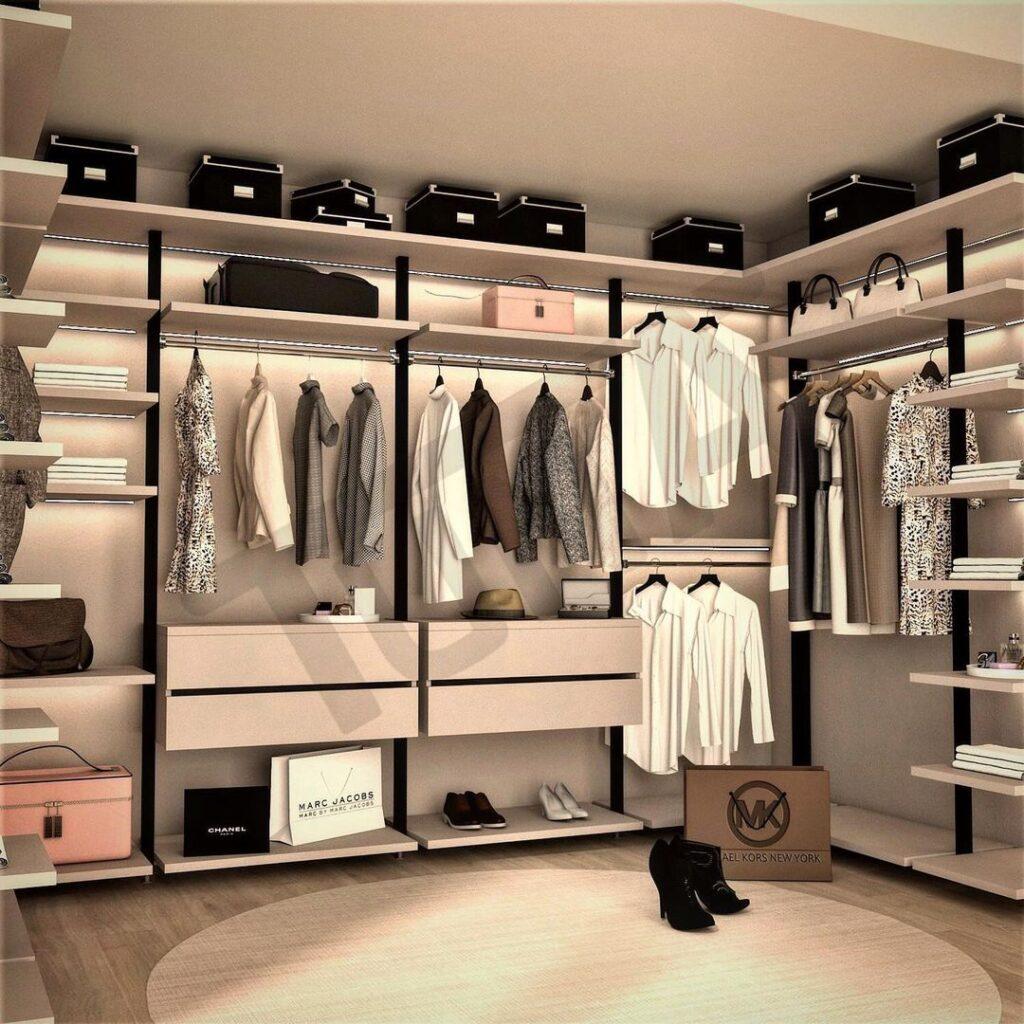 Giyinme Odası Açık Profil Sistem 3