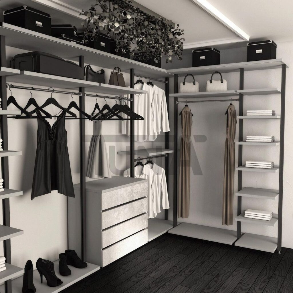 Giyinme Odası Açık Profil Sistem
