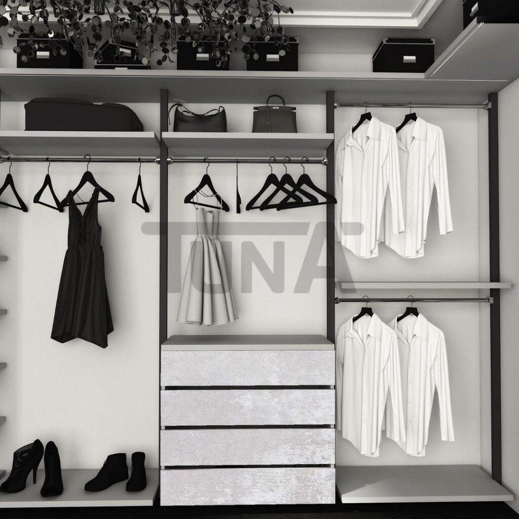 Giyinme Odası Açık Profil Sistem 2